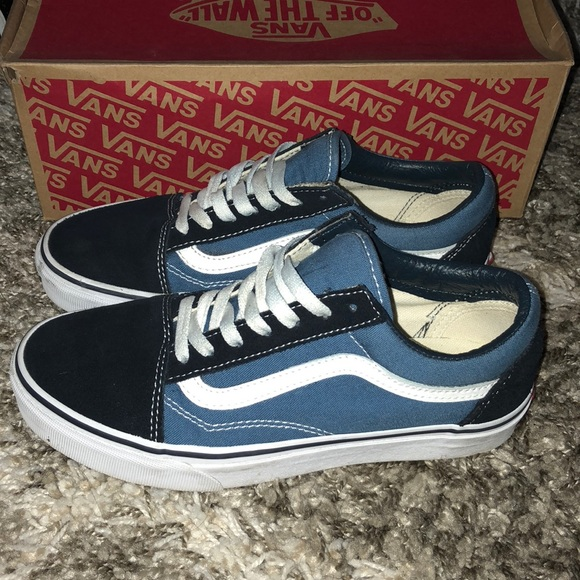 Vans Shoes | Blue Two Tone Vans | Poshmark
